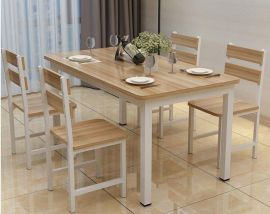 Dinning table set 4chairs Dougal-oak-white