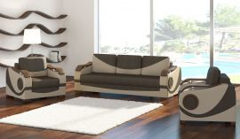 Sofa set 3+1+1 Kaja-beige-brown