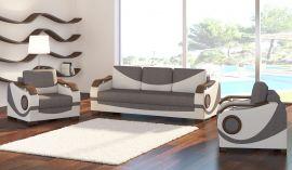 Sofa set 3+1+1 Kaja-white-grey