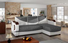 Corner sofa bed Perica-white-grey