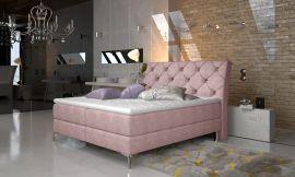 Boxspring bed Karleen -light pink-160x200cm