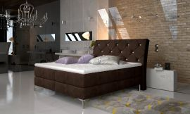 Boxspring bed Karleen -dark brown-160x200cm
