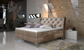 Boxspring bed Karleen -light brown-160x200cm
