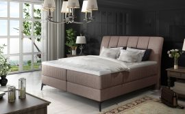 Boxspring bed Audelia -light pink-160x200cm