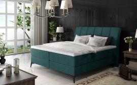 Boxspring bed Audelia -green-160x200cm
