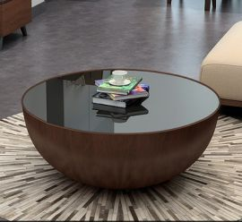 Round Coffee Table Alarico-brown