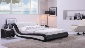Sänky Almonte Lux 160-180 musta-valkoinen
