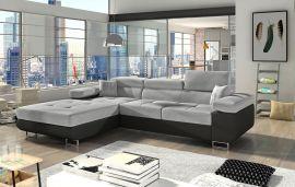 Corner sofa bed Marcia-black-grey-left