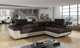 Corner sofa bed Britany-beige-brown-right