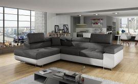 Corner sofa bed Britany-white-grey-left