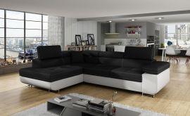 Corner sofa bed Britany-black-white-left