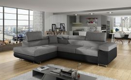 Corner sofa bed Britany-black-grey-left