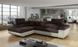 Corner sofa bed Britany-beige-brown-left
