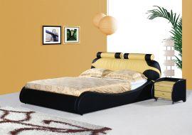 Sänky Arezzo Lux 160-180 musta-keltainen