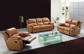 Arizona 1+2+3 Recliner sofa set-brown