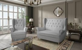 Sofa set Philomena 2+1-light grey
