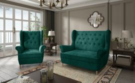 Sofa set Philomena 2+1-dark green