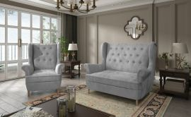 Sofa set Philomena 2+1-grey