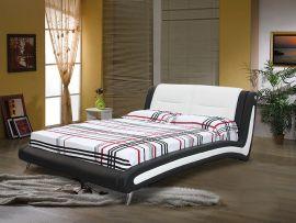 Sänky Armilla Lux 160-180 musta-valkoinen