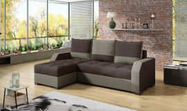 Corner sofa bed Cohen-dark brown