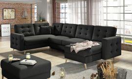Corner sofa bed Enrique-black