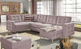 Corner sofa bed Enrique-light pink