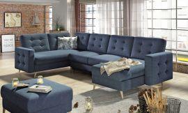 Corner sofa bed Enrique-blue