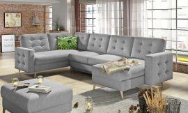 Corner sofa bed Enrique-light grey