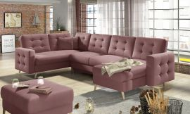 Corner sofa bed Enrique-pink