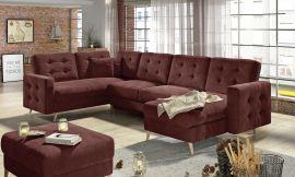 Corner sofa bed Enrique-brown
