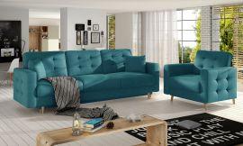 Sofa set Millicent 3+1-light blue