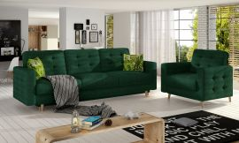 Sofa set Millicent 3+1-dark green