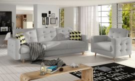 Sofa set Millicent 3+1-light grey