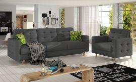Sofa set Millicent 3+1-grey