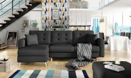 Corner sofa bed Dimitri-black