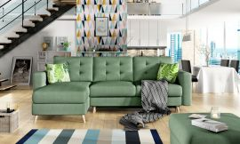 Corner sofa bed Dimitri-green
