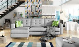 Corner sofa bed Dimitri-light grey