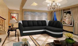 Corner sofa bed Fallon-black-right