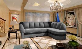 Corner sofa bed Fallon-black-grey-right