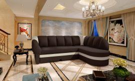 Corner sofa bed Fallon-dark brown-right
