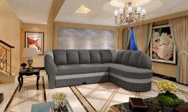 Corner sofa bed Fallon-grey-right