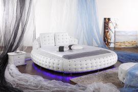 Pyöreä Sänky Belize Lux 180x200 cm valkoinen