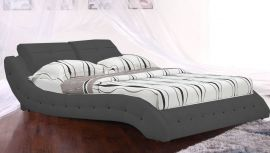 Bed Bergamo Lux 160-180cm-160x200cm-grey