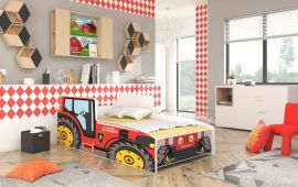 Children bed Tractor Red -140x70cm