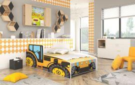 Children bed Tractor Yellow-140x70cm