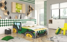 Children bed Tractor Green-140x70cm