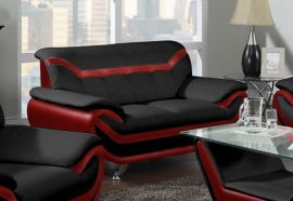 2-seater Sofa Calgary-black-red