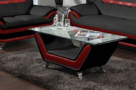 Coffee table Calgary-black-red