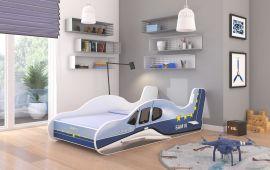 Children bed Plane Blue-140x70cm