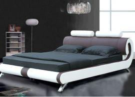 Sänky Dallas Lux 160-180 ruskea-valkoinen